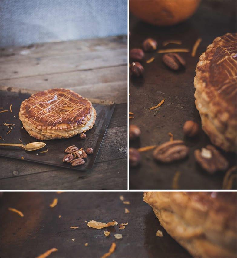 Bigoût / recette de la galette des rois à la frangipane de noix de pécan / noisettes / orange.