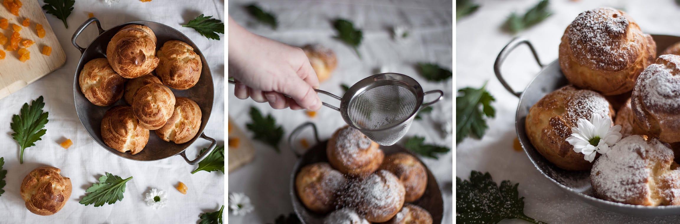 Chouquettes à la crème d'abricot