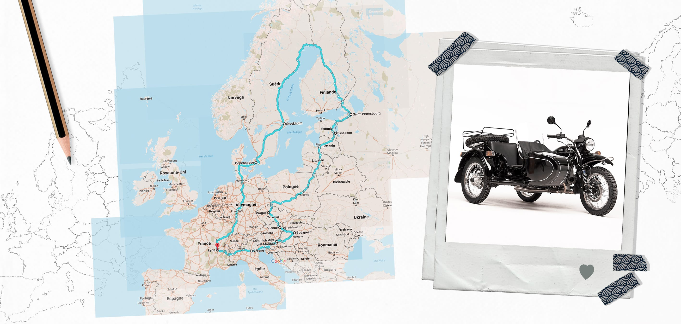 Side by Side Ural Sportsman road trip Europe
