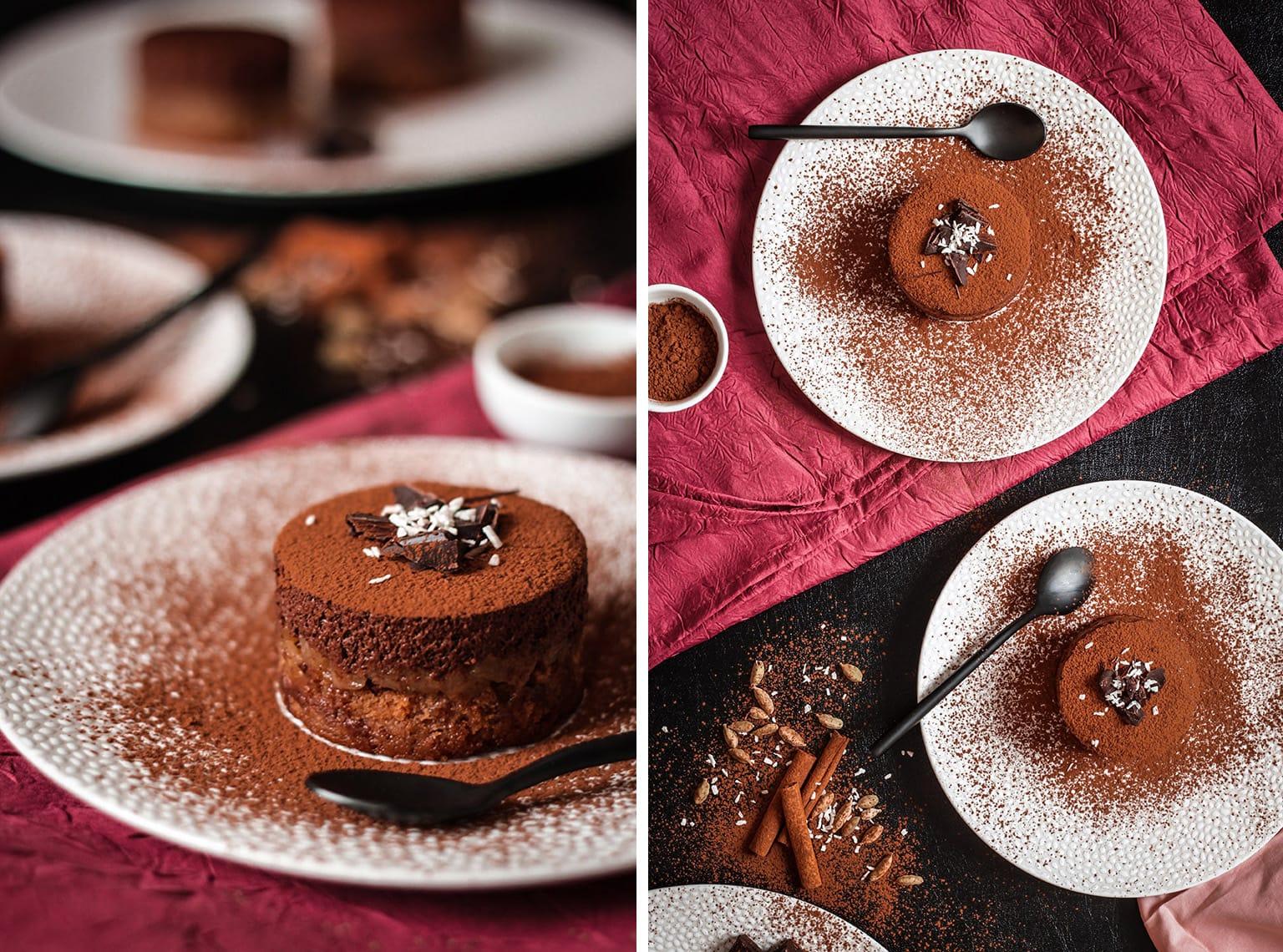 Entremet pain d'épices poire et chocolat