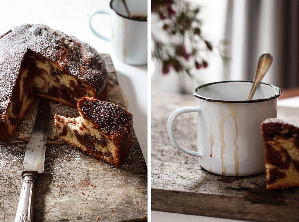 Bigoût / recette du cake marbré amande chocolat
