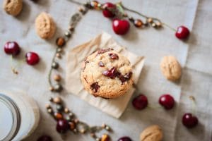 Cookies rustiques & gourmands avoine/chocolat/noix/cerises {sans gluten}