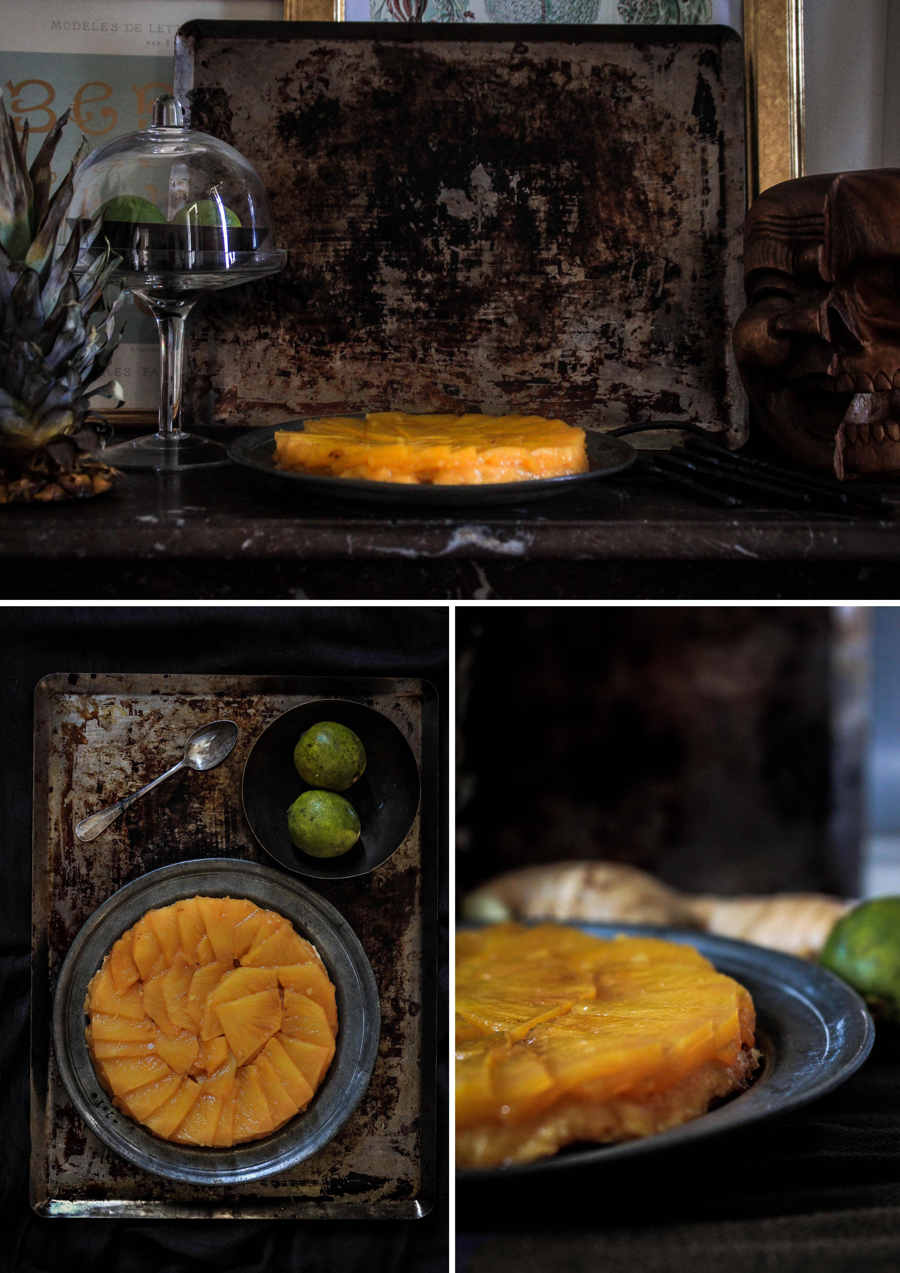Tarte tatin ananas/gingembre/citron vert
