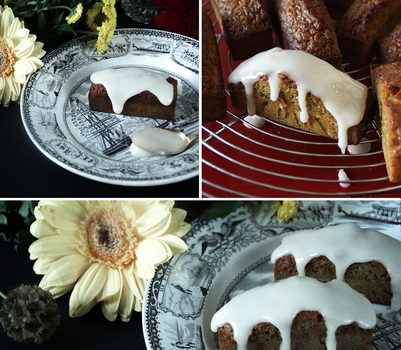 Mini cakes orange pavot
