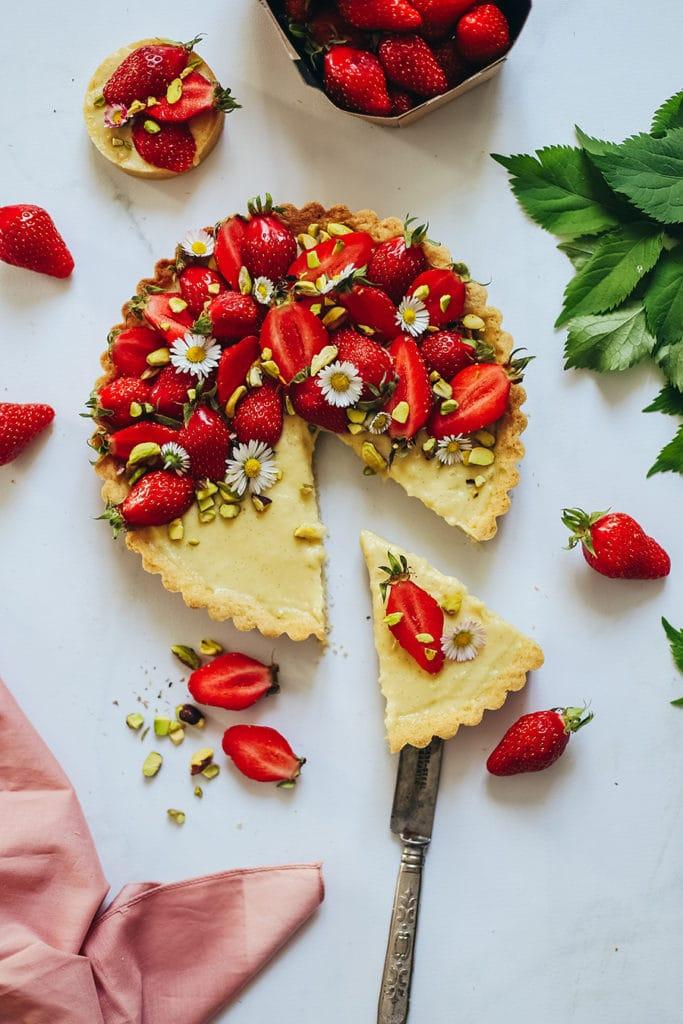 CapucineDinochau-Bigout-photographe culinaire-Lyon-recette de tarte aux fraises classique
